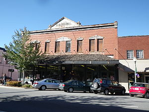Sylva, North Carolina - The CJ Harris building on Main Street was built in 1902.  It housed Sylva Supply Company for many years.  In 2016 the upstairs level has undergone rehab and houses offices once again.