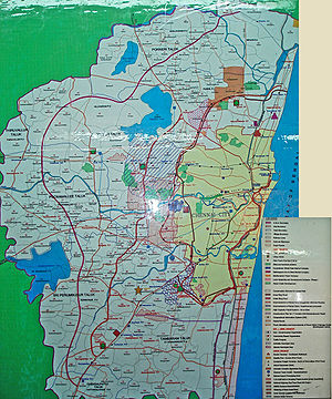 Chennai Metropolitan Area - The CMDA masterplan for the CMA