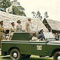 COLLECTIE TROPENMUSEUM President Jomo Kenyatta staande in een landrover tijdens de opening van de Eldoret Agricultural Show TMnr 20038660.jpg