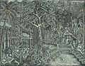 COLLECTIE TROPENMUSEUM Voorstellingen uit de Ramayana-cyclus. De brug die India en Ceylon verbindt met Rama Laksmana Hanuman en andere figuren. TMnr 1243-20.jpg