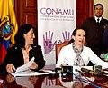 CONFERENCIA DE PRENSA DE CANCILLER MARIA FERNANDA ESPINOSA SOBRE REUNIÓN DE CONAMU. 02.08.07 MRECI (986214097).jpg
