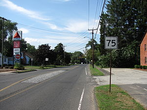 Route 75 (Connecticut–Massachusetts) - Northbound in Agawam, Massachusetts