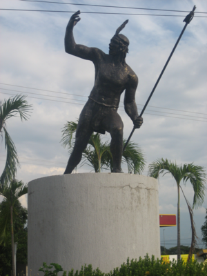 Chimila - Statue in Valledupar honoring the Cacique Upar.