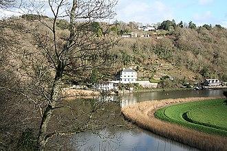 Calstock - Ashburton Hotel and Danescombe Quay overlooking the River Tamar