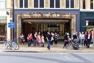 St Andrew's Street, Cambridge - The Grand Arcade entrance on St Andrew's Street.