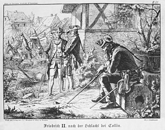 Battle of Kolín - Frederick II after the Battle of Kolin