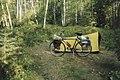 Camping on my 1998 bike trip, east of Superior, WI. (10163826463).jpg