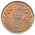 Canada Newfoundland Edward VII Cent 1904H (rev).jpg