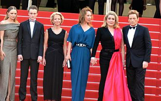 Standing Tall (film) - Director and stars at the 2015 Cannes Film Festival.