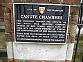 Canute Chambers plaque - geograph.org.uk - 1722564.jpg