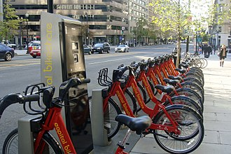 "Last mile (transportation) - Bicycle sharing systems such as Washington's Capital Bikeshare have been cited as a way to alleviate the ""last mile problem."""