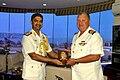 Capt Mark Boucher, SA Navy Commanding South African Naval Ship SAS Spioenkop calling on Rear Admiral Puneet K Bahl, Flag Officer Commanding Goa Naval Area.JPG