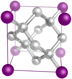 Crystal system - The diamond crystal structure belongs to the face-centered cubic lattice, with a repeated two-atom pattern.