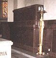 Carl XV of Sweden & Louise of Sweden graves 2007 dark.jpg