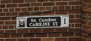 Postal addresses in the Republic of Ireland - Image: Caroline St Cork 1 sign closeup