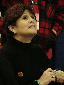 Carrie Fisher at WonderCon 2009 1.JPG