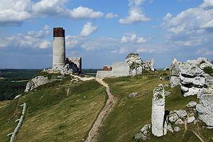 Olsztyn, Silesian Voivodeship - Ruins of castle in Olsztyn