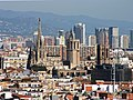 Cathedral of Barcelona from Palau Nacional - Barcelona 2014 (crop).jpg