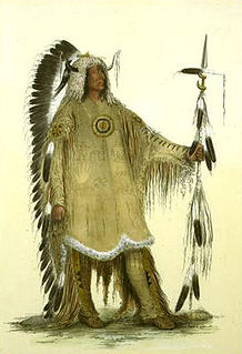 Native American; Chief of the Mandan tribe