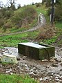Cattle trough and track - geograph.org.uk - 664413.jpg