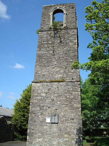 King Giolla Iosa Ruaidh established the town of Cavan and its Franciscan friary in the early 14th century CavanFriary.JPG