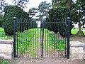 Cemetery gates at Manston - geograph.org.uk - 966147.jpg