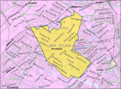 Census Bureau map of Westfield, New Jersey