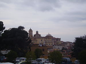 Marino, Lazio - View of the historical centre.