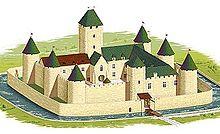 Le château au XIVème siècle.