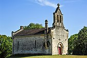 Chapel adjoining the castle of Roquetaillade - 2017.jpg