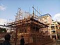 Char Narayan Temple under reconstruction, Patan Durbar Square.jpg