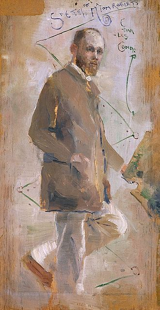 9 by 5 Impression Exhibition - Image: Charles Conder An Impressionist