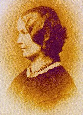 Charlotte Brontë - Disputed photograph taken about 1855; sources are in disagreement over whether this image is of Brontë or of her friend, Ellen Nussey.