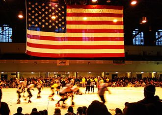 Charm City Roller Girls - The All-Stars in action in 2007 at the Fifth Regiment Armory in Baltimore