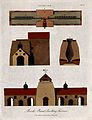 Chemistry; plan and section of two blast furnaces. Coloured Wellcome V0024502ER.jpg