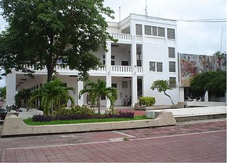 Chetumal - Front of the palace of the Governor of the state of Quintana Roo in Chetumal