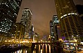 Chicago, Illinois - city at night on the river.jpg