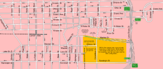 Multilevel streets in Chicago - A map of the rest of the streets