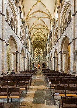 Chichester Cathedral - Looking down the nave from the west doors