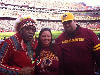 Washington Redskins name controversy - Chief Zee with other fans