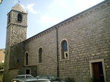 La chiesa settecentesca S.Maria della Neve