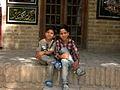 Children in Ribat-i-Abbasi of Nishapur (Hossein - Ali - Fatemeh - Hengameh and another girl - probably Afghani) 05.jpg