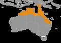 Chlamydosaurus kingii distribution map.png