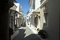 Chora of Andros, main street of the old town, 090597.jpg