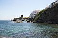Chora of Andros, seafront with Kastro, 090507.jpg