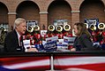 Chris Matthews interviews Elizabeth Edwards before the first Democratic Party debate of the 2008 primaries (477363381).jpg