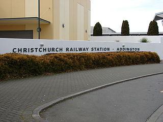 Christchurch railway station, New Zealand