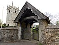 Church of St Andrew, Boothby Pagnell, Lincolnshire, England - lych gate.jpg