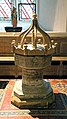 Church of St Andrew, Nuthurst, West Sussex - 14th-century baptismal font.jpg