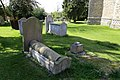 Church of St Mary, High Easter, Essex, England - graveyard barrel tomb at south-east 02.jpg